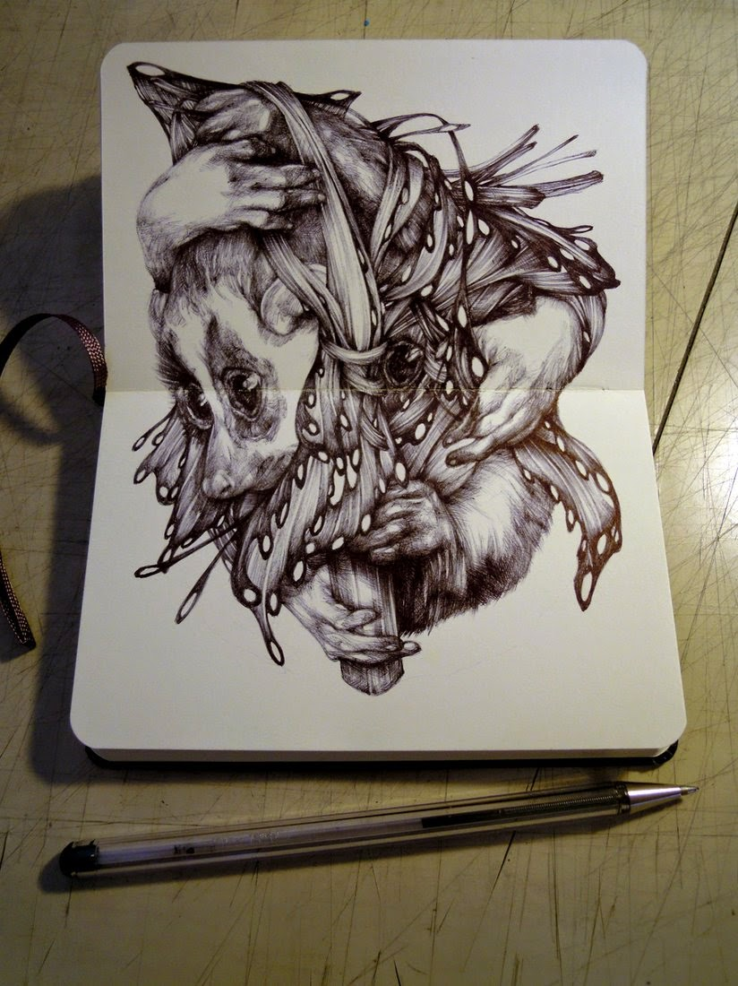 10-Marco-Mazzoni-Surreal-Animal-Drawings-www-designstack-co