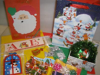 Regalos enviados para el Inter de Navidad de Daiana