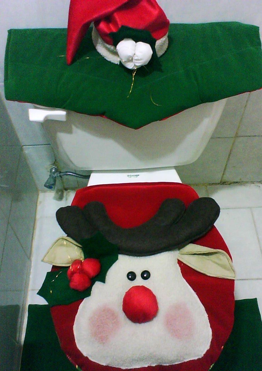 Set De Baño Navideno:Juego De Bano Navidad