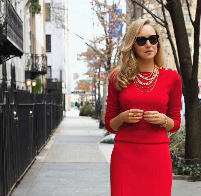style red sweather