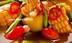 resep masakan indonesia sayur asem spesial praktis, mudah, sedap, gurih, nikmat