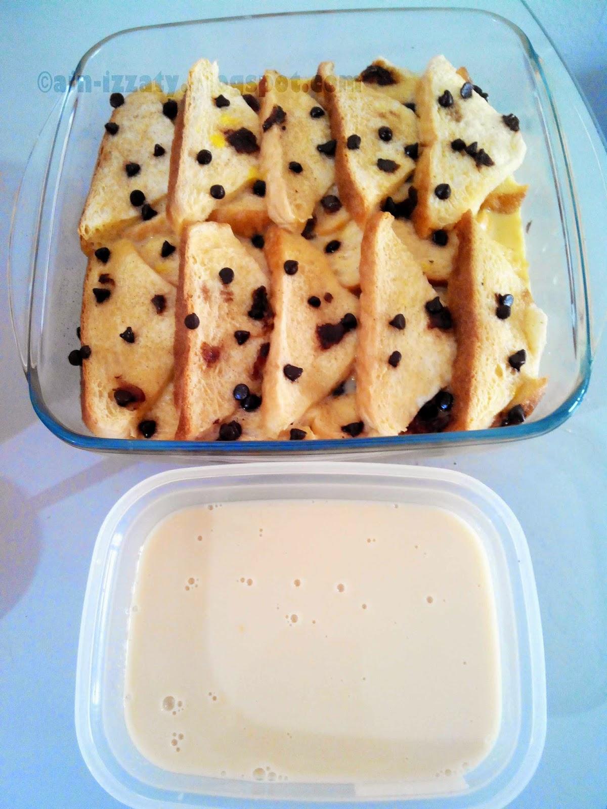 resepi Butter bread pudding
