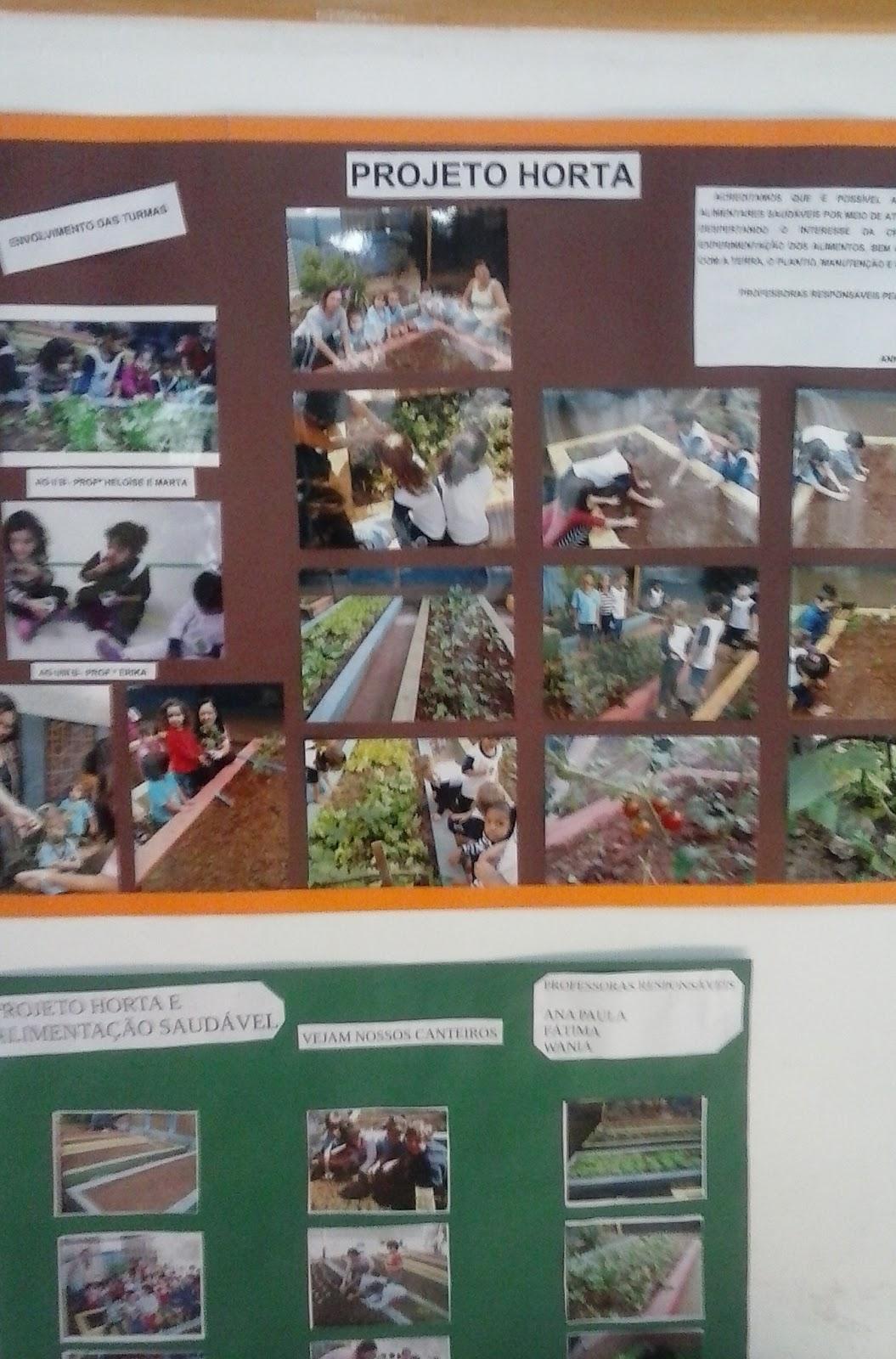 Painel do Projeto Horta -Festa da Família