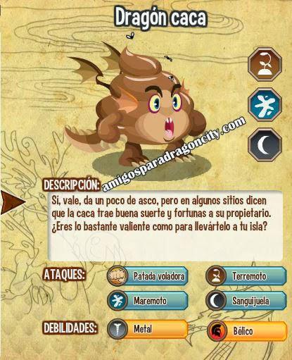 imagen de las caracteristicas del dragon caca