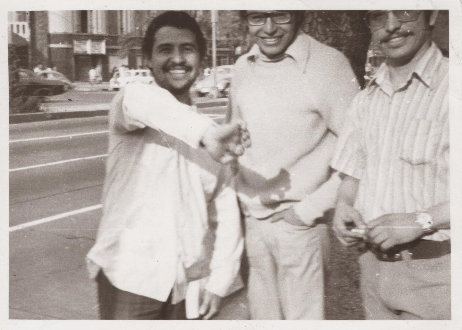 Mi papa con Venegas Padre e hijo, años 80