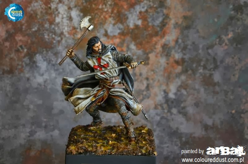 Crusader in battle. (Scale 75)