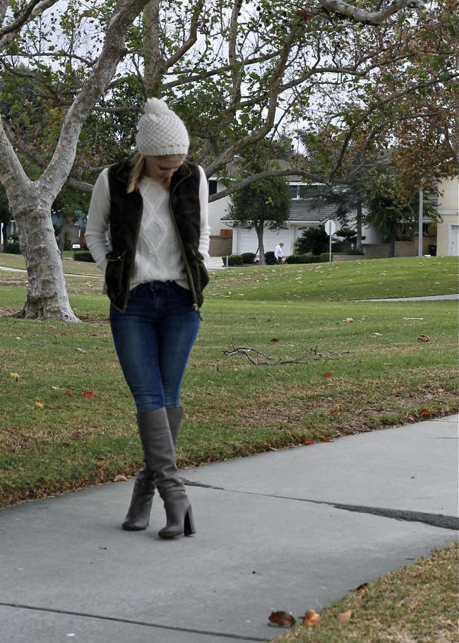 white beanie, hat, OC Blogger, style, vest, camouflage
