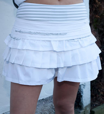 lululemon run back on track running skirt white