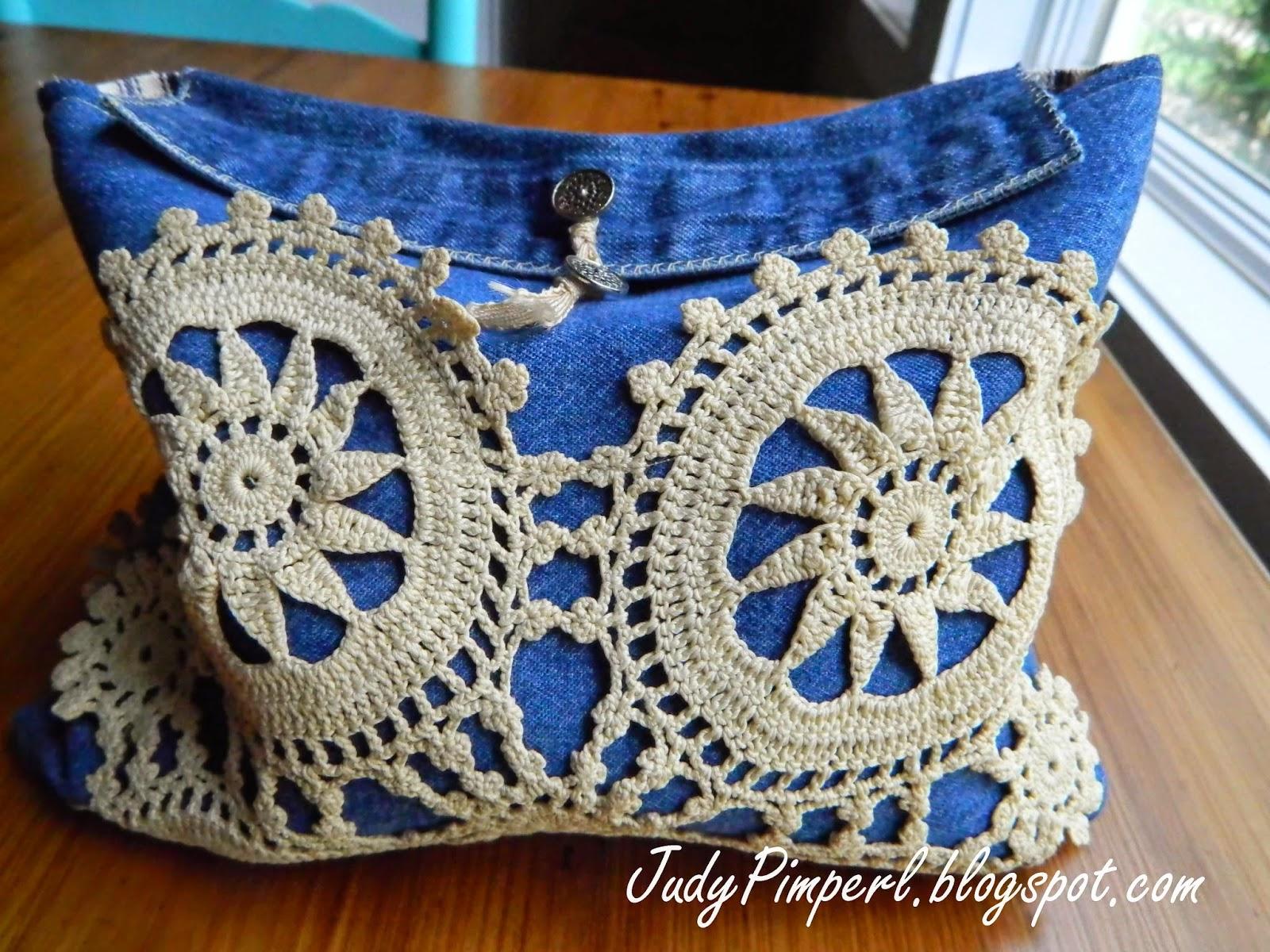 Judy hanks pimperl diy upcycled denim bag for random for Random diys