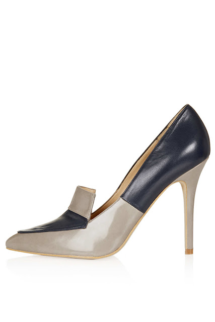 panelled court shoes