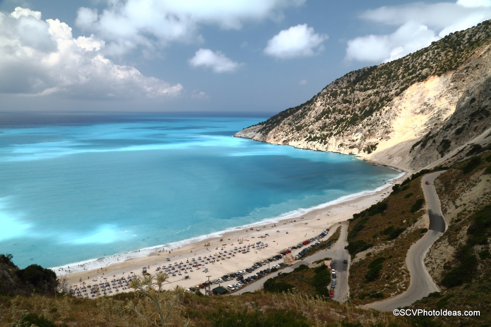 Myrtos Beach, Cephalonia road view