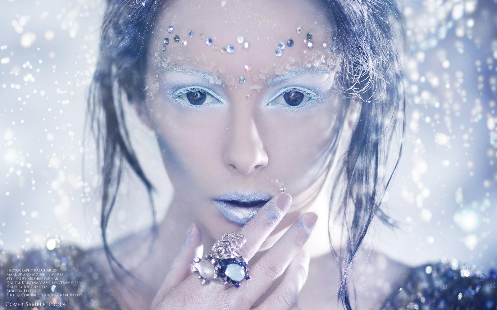 Love Costuming Snow Queen Makeup Hair