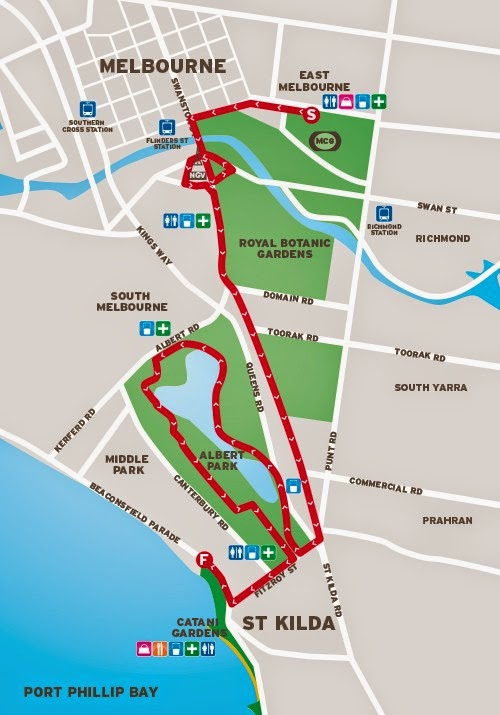 2014 City2Sea Course Map
