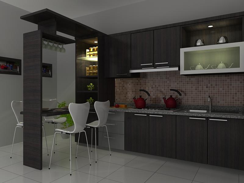Kontraktor interior rumah harga kitchen set minimalis for Harga kitchen set surabaya