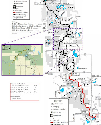 hiking trail map, manistee national forest, guide, marker, miles, pdf