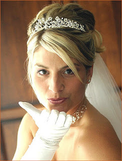 wedding hairstyles down tiara