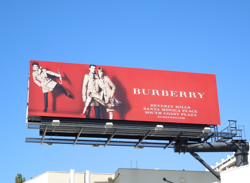Burberry Romeo Beckham trenchcoat billboard