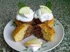 Citromos kakaós muffin recept, citromaromás tojásfehérje habbal.