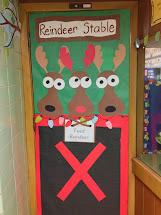 Reindeer Stable Door Decoration