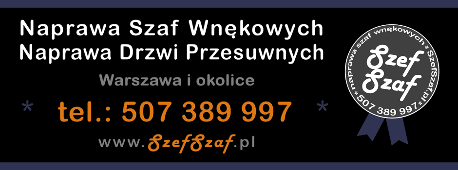 Naprawa szaf wnękowych i drzwi przesuwnych - Warszawa