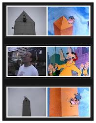 Locuras en el obelisco...