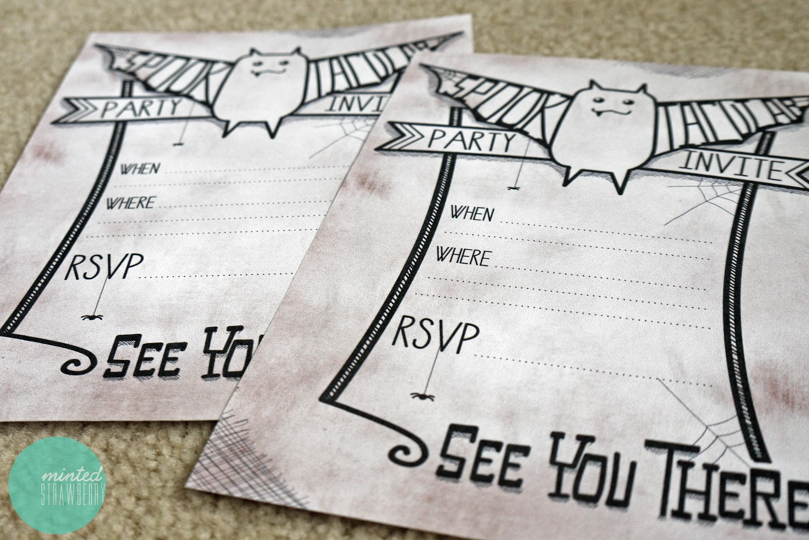 cute halloween party invites printable free - Halloween Birthday Invitations Printable