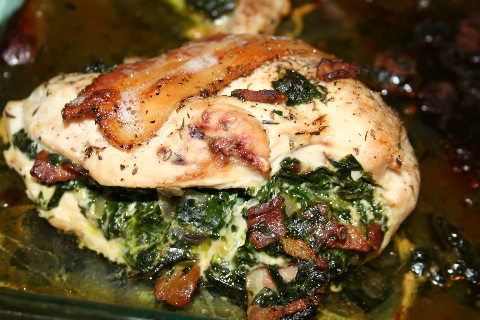 Budget Paleo...Made Easy: Spinach Stuffed Chicken With Bacon