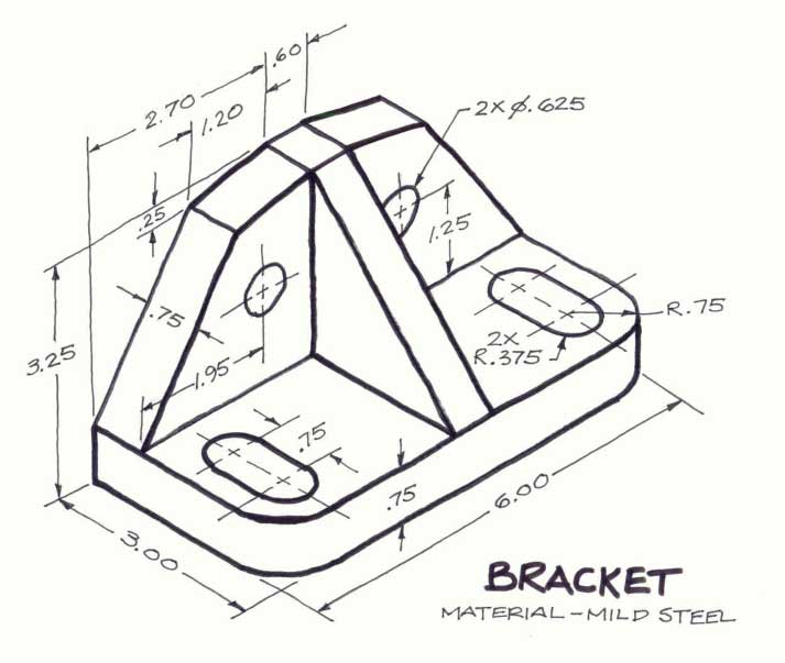 Isometric Drawing Exercises on 3d engineering drawings