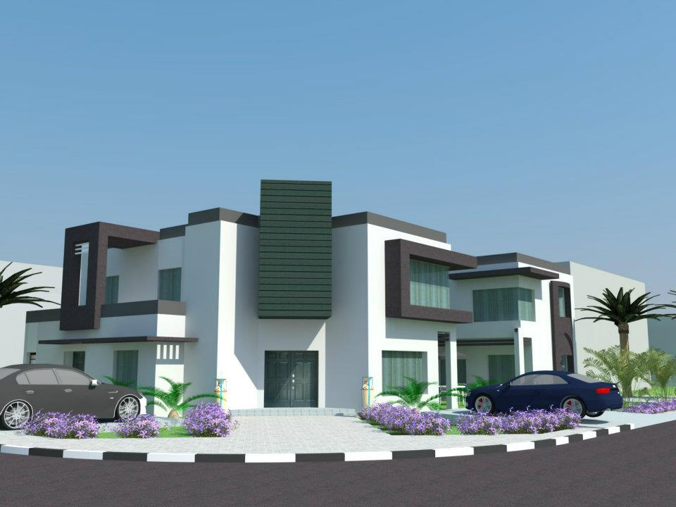 3d front lahore pakistan 3d front elevation for Beautiful house front elevation