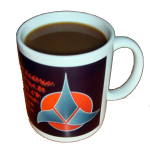 Klingon coffee cup