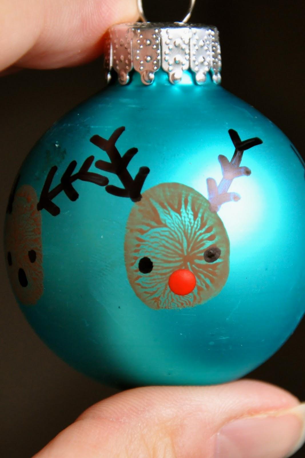 Little bit funky 20 minute crafter reindeer thumbprint ornaments solutioingenieria Gallery