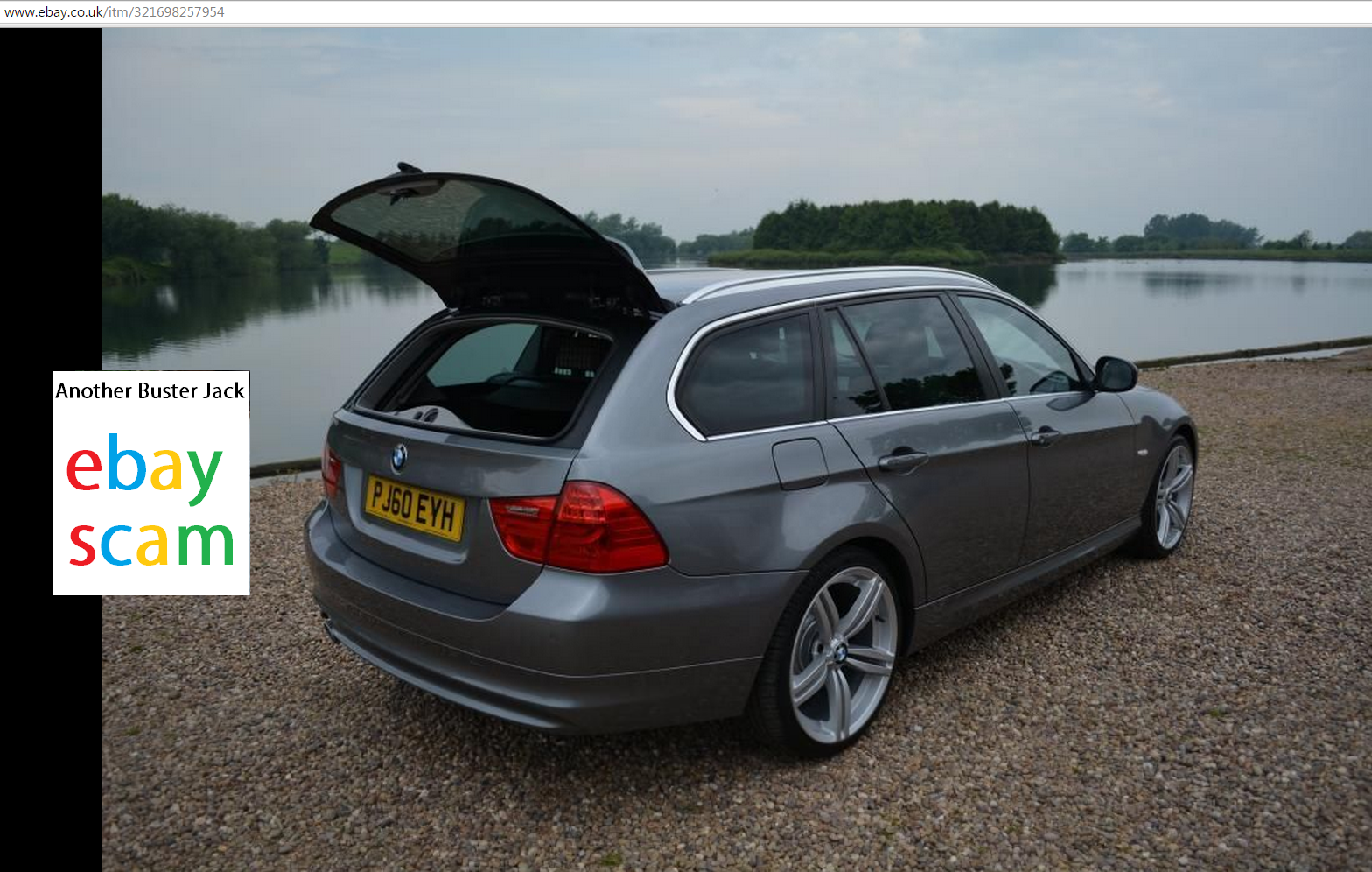 ebay scam 2010 bmw 318d sport touring pj60eyh fraud pj60 eyh 18 mar 15. Black Bedroom Furniture Sets. Home Design Ideas