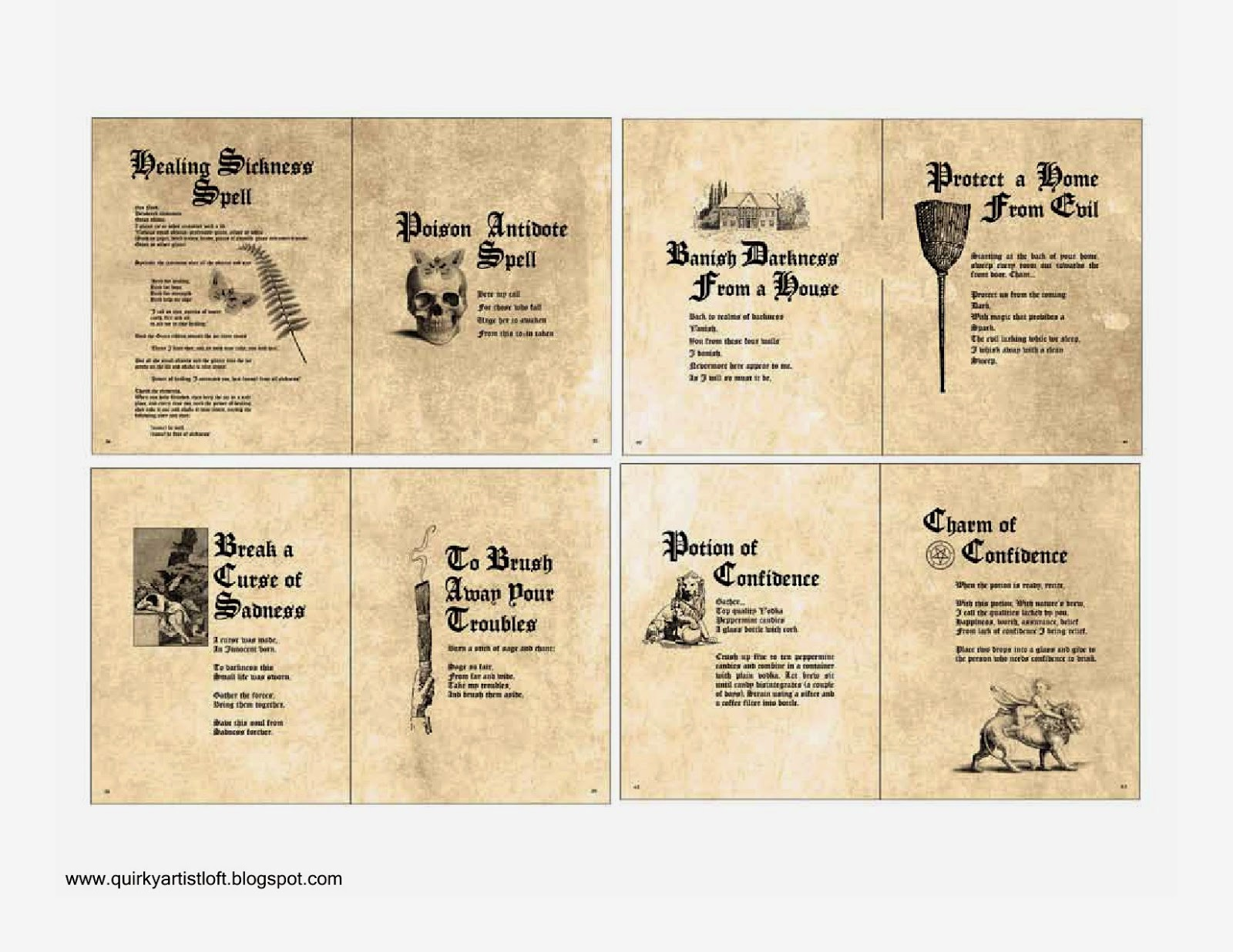 Dashing image with harry potter spell book printable
