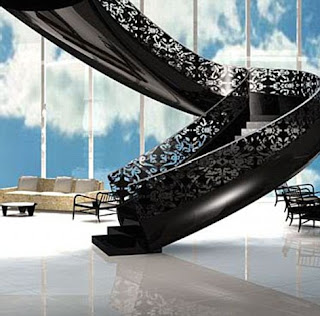 Home interior designs mansion house staircase for Luxury staircase