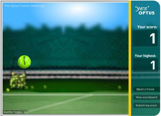 Ball Game : Optus Tennis Challenge