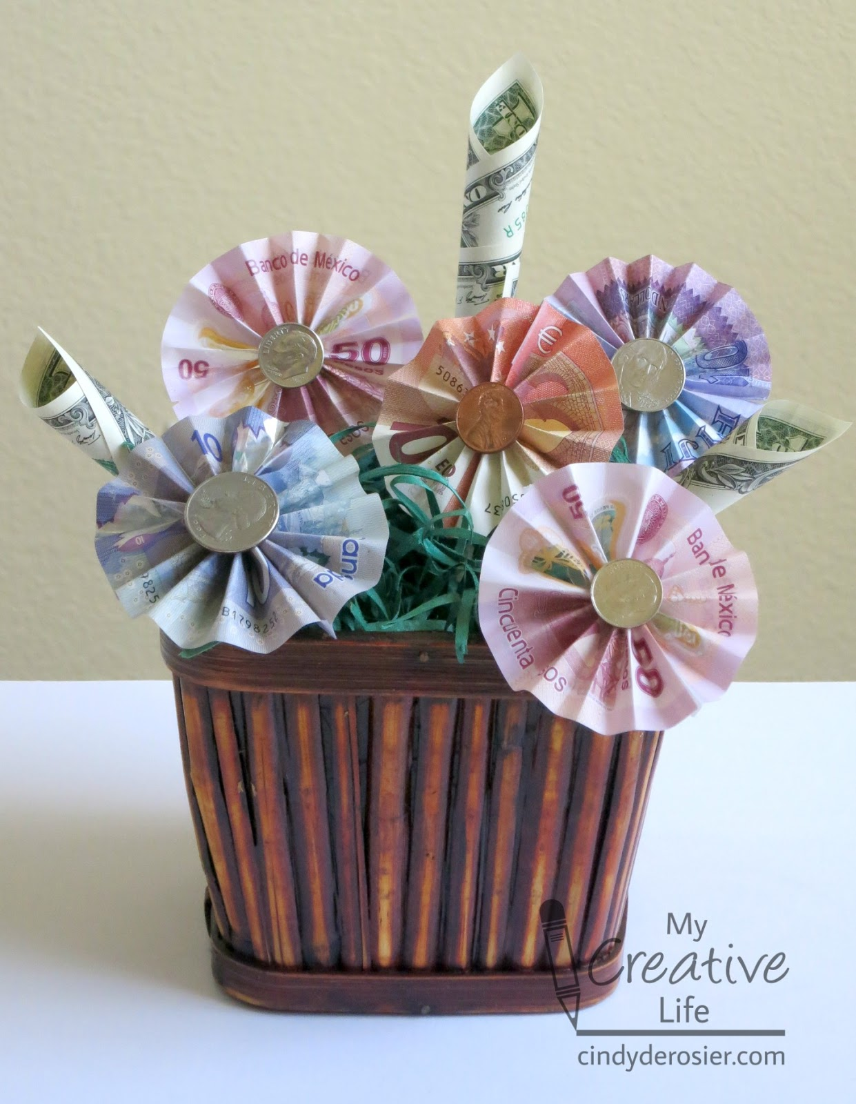 Cindy derosier my creative life money bouquet money bouquet dhlflorist Choice Image