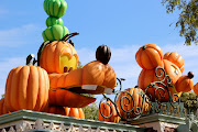 These pumpkin characters greeted guests at the theme park's . (img )