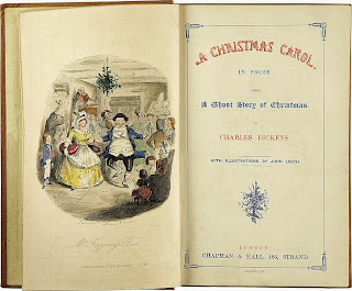 A Christmas Carol - First Edition Book - Front Page