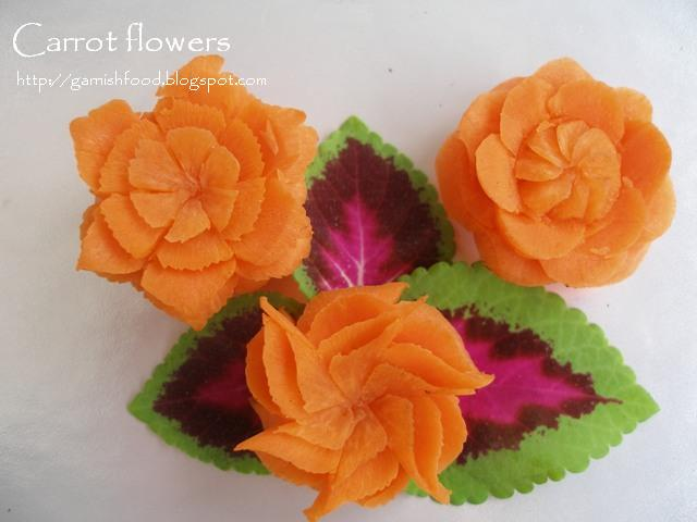 flower carved of carrot