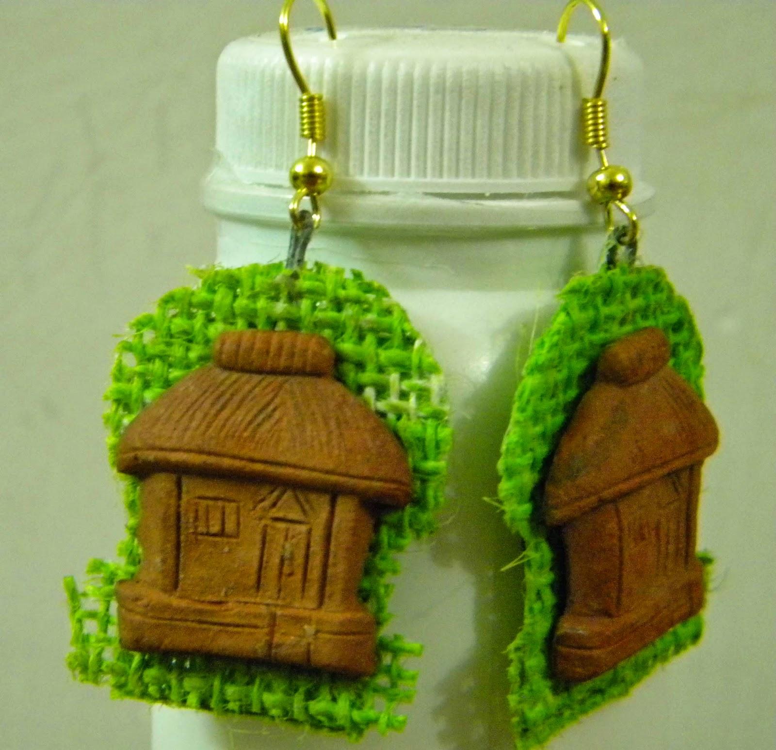 fashion jewellery, handmade earring, handmade jewellery, jute earring, jute jewellery, terracotta earring, trendy earring,