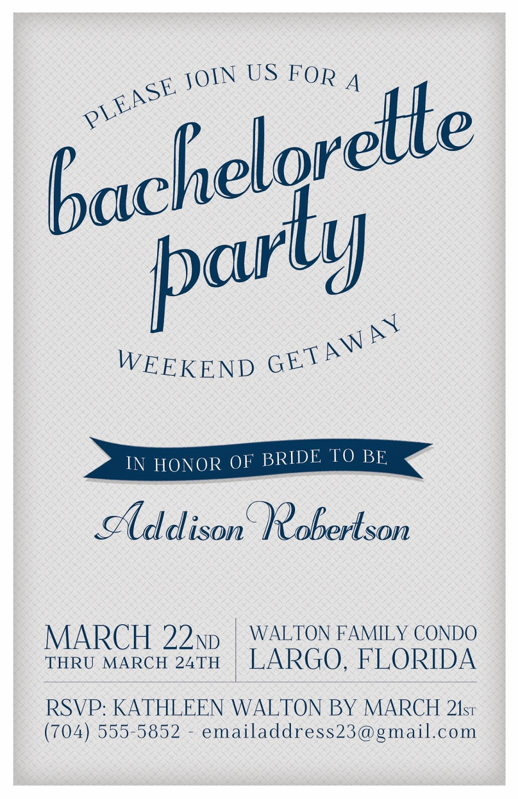 Free Bachelorette Party Invitations and get inspiration to create nice invitation ideas