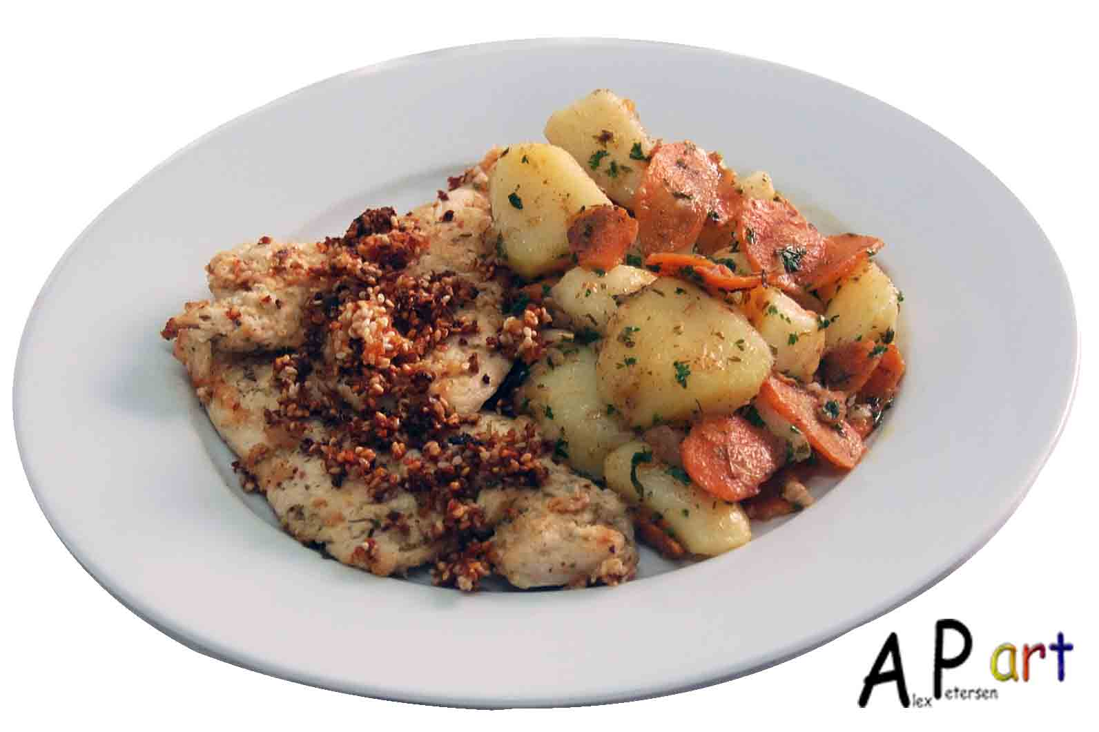 ... Culinarian: Lime Coriander and Ginger Schnitzel with Braised Potatoes