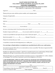 2019 Ellet Craft Show Application