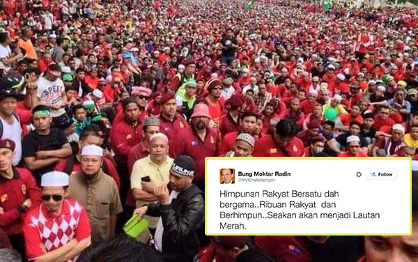 """perhimpunan """"Baju Merah"""