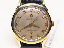 OMEGA CONSTELLATION CHRONOMETER GOLD TOP - SILVER 3 6 9 12 DIAL - MECHANICAL BUMPER CAL 354