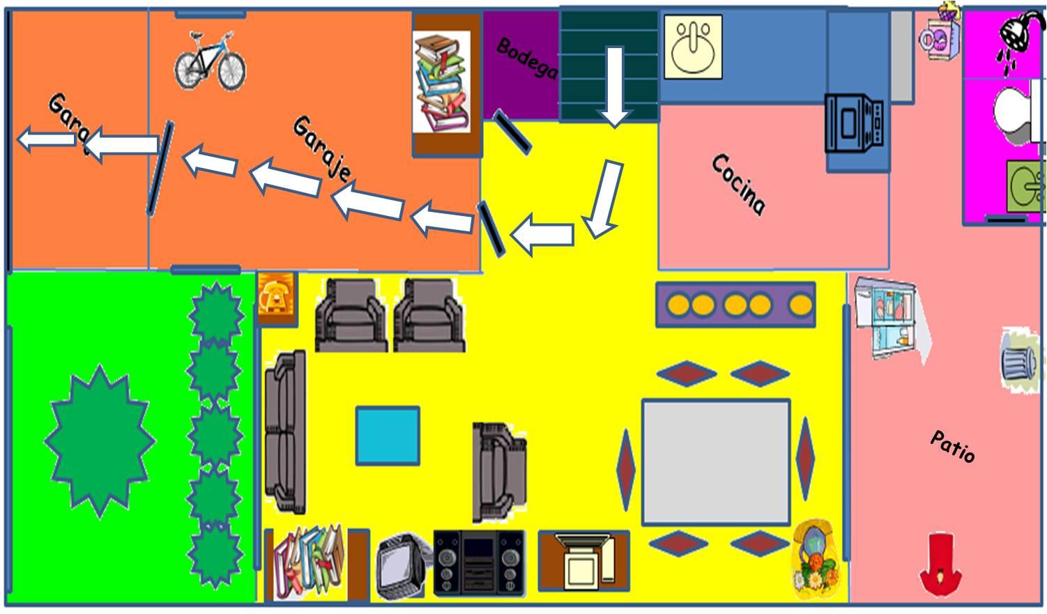 Primeros auxilios y prevenci n de desastres mapa de mi casa - Hacer plano de mi casa ...