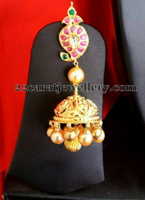 Laxmi Mango Necklace with Jhumkas