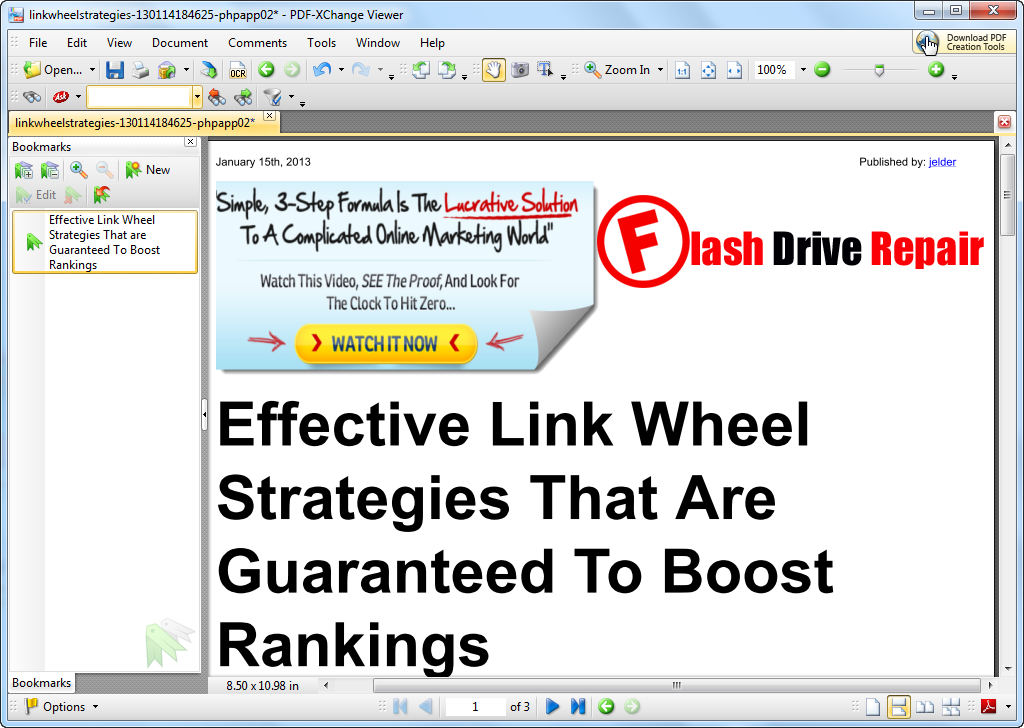Free PDF Xchange Viewer V2.0