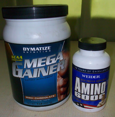 Dymatize Nutrition Mega Gainer, Weider Amino 6000