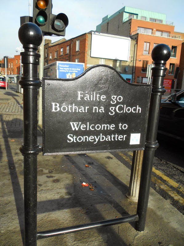 The sign announcing Stoneybatter